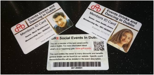 Events Drinks and Dancing Members Card