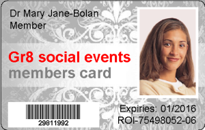 Sample card - gr8 events